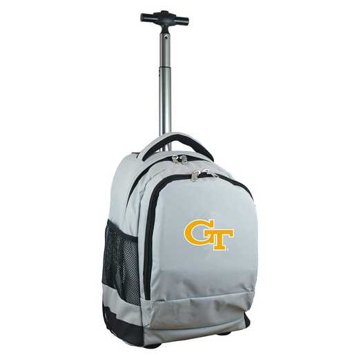 CLGTL780-GY: NCAA Georgia Tech Yellow Jackets Wheeled Premium Backpack